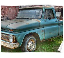 Old Abandoned Truck rural decay reclamation HDR Poster