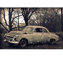 Old Car rural decay reclamation rusted rustic Photographic Print