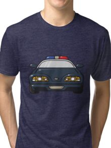 police car Tri-blend T-Shirt