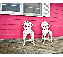 Porch for Two Please Photographic Print