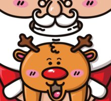 kawaii Santa Sticker