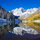 Maroon Lake and Bells, Aspen by printscapes
