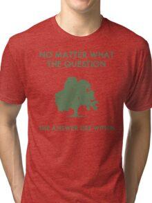 Zen Inspirational Quote Tri-blend T-Shirt
