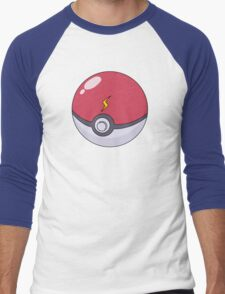 Pikachu's Pokeball Men's Baseball ¾ T-Shirt