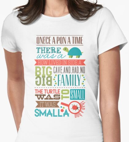 """Smalla than a bug"" Womens Fitted T-Shirt"