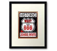 Route 666 Framed Print