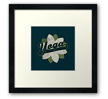 Yoga Flower Framed Print