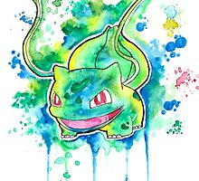 Cool BULBASAUR Watercolor Tshirts + More! ' Pokemon ' Jonny2may by Jonny2may