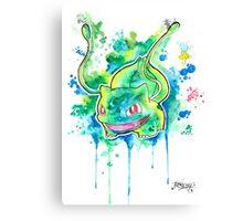 Cool BULBASAUR Watercolor Tshirts + More! ' Pokemon ' Jonny2may Canvas Print