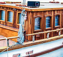 Wooden boat exterior by Arve Bettum