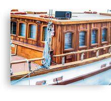 Wooden boat exterior Metal Print