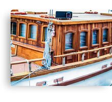Wooden boat exterior Canvas Print