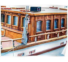 Wooden boat exterior Poster