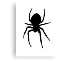 Black Spider Canvas Print