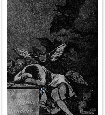 The Sleep Of Reason Produces Monsters (1797-1798) {SAD ART} Sticker