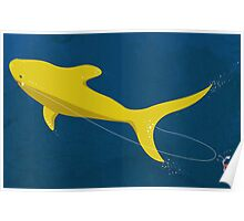 Swimmin' with the great yellow shark Poster