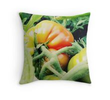 Garden Tomato Throw Pillow