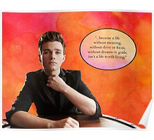 Chris Colfer watercolor Poster