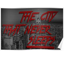 The City That Never Sleeps. Poster