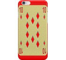 Red 10 iPhone Case/Skin