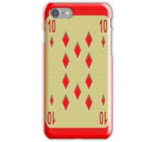 Red 10 iPhone Case/Skin