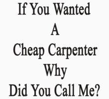 If You Wanted A Cheap Carpenter Why Did You Call Me?  by supernova23