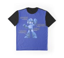 Mega Man Design - NES and SNES Interior Makeup Graphic T-Shirt
