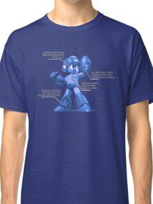 Mega Man Design - NES and SNES Interior Makeup Classic T-Shirt