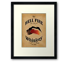 Hell Fire Whiskey Framed Print