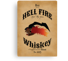 Hell Fire Whiskey Canvas Print