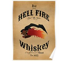 Hell Fire Whiskey Poster