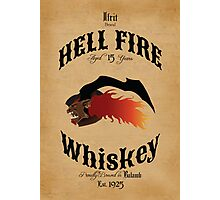 Hell Fire Whiskey Photographic Print