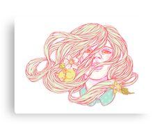 Kitsune Slumber Party Canvas Print