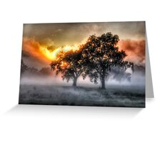 Morning Embers- Jingellic NSW - The HDR Experience Greeting Card