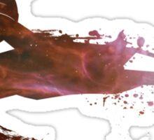 Klingon Battlecruiser Paint Splatter Sticker