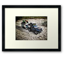 Pirate road-trip Framed Print
