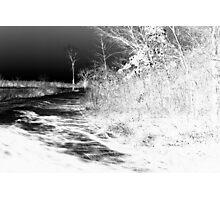 Icy Road Photographic Print