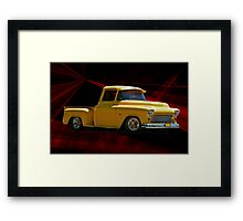 1956 'Please Step Aside' Chevy Pick-Up Framed Print