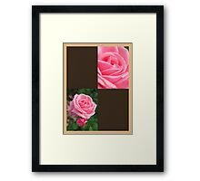 Pink Roses in Anzures 2 Blank Q3F0 Framed Print