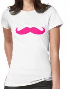 MARKIPLIER PINK MOUSTACHE  Womens Fitted T-Shirt