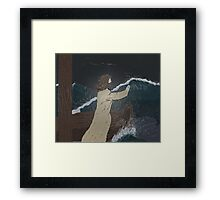 The calming storm Framed Print