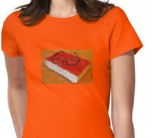 Book Under Glasses Womens Fitted T-Shirt
