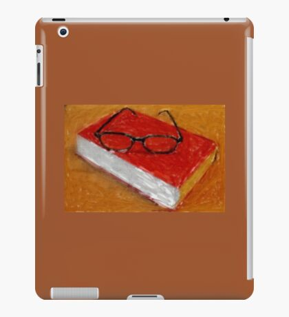 Book Under Glasses iPad Case/Skin