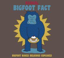 Bigfoot bakes delicious cupcakes Kids Clothes