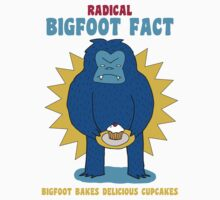 Bigfoot bakes delicious cupcakes Kids Clothes