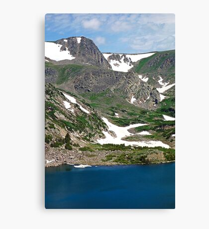 King Lake at Rollins Pass T  Canvas Print