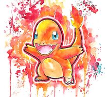 Cool Charmander Watercolor Tshirts + More! ' Pokemon ' Jonny2may by Jonny2may