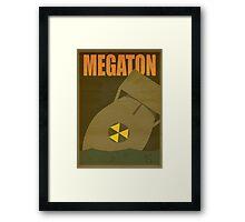 Travel poster Megaton Framed Print