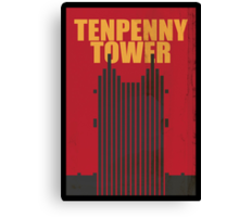 Travel poster Tenpenny Tower Canvas Print