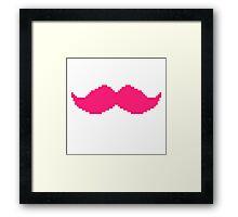 MARKIPLIER PINK MOUSTACHE PIXEL 8 BIT 16 BIT Framed Print